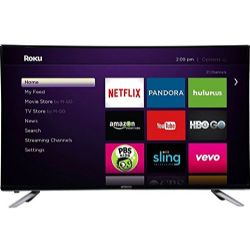 "Hitachi Alpha Series 43"" LED HDTV with Roku Steaming Stick"