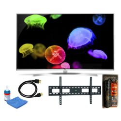 "LG 60UH8500-Series 60""-Class UHD Smart LED TV Bundle"