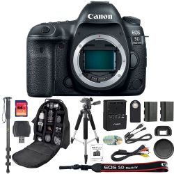 Canon EOS 5D Mark IV DSLR Camera Body + 64GB SDXC Card