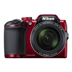 Nikon Coolpix B500 16.0 MP Compact Digital Camera - 1080p - Red