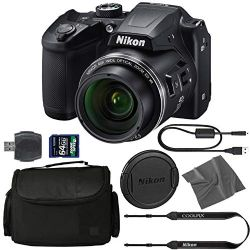 Nikon COOLPIX B500 Digital Camera: (Black) (26506) + 64GB AOM Pro Kit