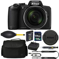 Nikon COOLPIX B600 Digital Camera: (Black) + 64GB AOM Pro Kit