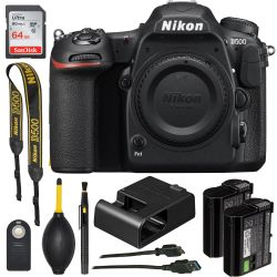Nikon D500 20.9 MP SLR - Body Only +64GB SDXC Memory Card Bundle