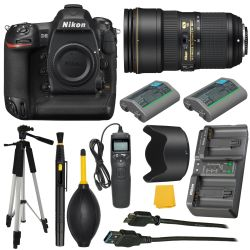 Nikon D5 QXD 20.8 MP SLR +NIKKOR 24-70mm f/2.8E + More