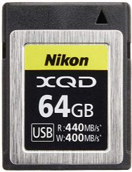Nikon XQD Memory Card 64GB MC-XQ64G
