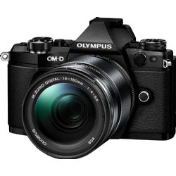 Olympus - OM-D E-M5 Mark II Mirrorless Camera with 14-150mm Lens - Black