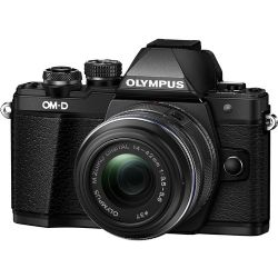 Olympus OM-D E-M10 Mark II Mirrorless Micro Four Thirds Digital Camera with 14-42mm II R Lens (Black)