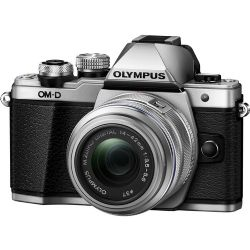 Olympus OM-D E-M10 Mark II Mirrorless Micro Four Thirds Digital Camera with 14-42mm II R Lens (Silver)