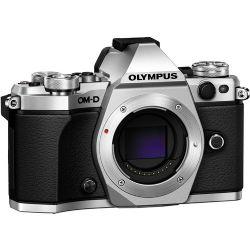 Olympus OM-D E-M5 Mark II Mirrorless Micro Four Thirds Digital Camera (Body, Silver)