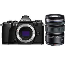 Olympus OM-D E-M5 Mark II Mirrorless Micro Four Thirds Digital Camera with 12-50mm Lens Kit (Black)