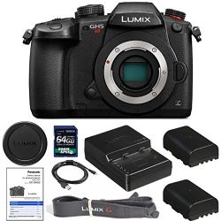 Panasonic Lumix DC-GH5S (Body Only) with 1200 x 64gb SDXC Card, Starter Kit