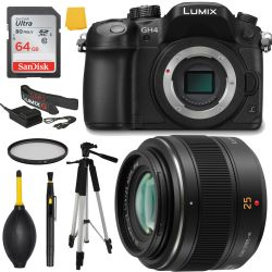 Panasonic Lumix DMC-GH4 4K Mirrorless Bundle Deluxe