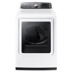DV8700 7.4 cu. ft. Large Capacity (Electric) Front Load Dryer (White)