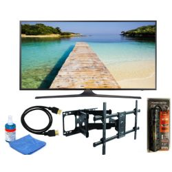 "Samsung UN65KU6300 65"" Black LED UHD 4K Smart Accessory Bundle"