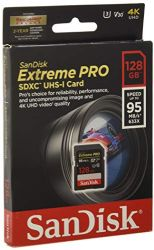SanDisk Extreme Pro 128GB SDXC UHS-I Card (SDSDXXG-128G-GN4IN)