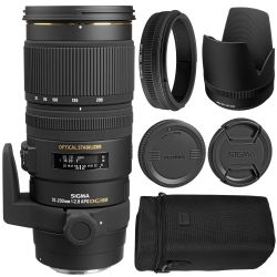 Sigma 70-200mm F2.8 EX DG OS HSM Lens for Canon + MORE
