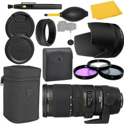 Sigma 70-200mm F2.8 EX DG OS HSM Lens for Nikon + MORE