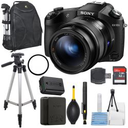 Sony Cyber-shot DSC-RX10 II 4K Camera With 32GB Ultra Bundle