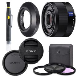 Sony Sonnar T FE 35mm f/2.8 ZA Lens with AOM Pro Kit. Includes: UV Filter, Circular Polarizing Filter, Fluorescent Day Filter, Sony Lens Hood, Front & Rear Caps
