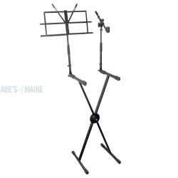 PYLE PRO KEYBOARD STAND W/ MIC HOLDER