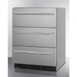 Ada Compliant 3-drawer Manual Defrost All-freezer for Medical Use; Complete Stainless Steel Construction for Built-in or Freestanding Use; Replaces Spf5dsstbada