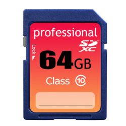Ultra high speed premium SDXC class 10 64GB memory card