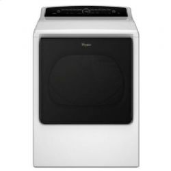 White Whirlpool(R) 8.8 cu. ft. Cabrio(R) High-Efficiency Electric Dryer with Quad Baffles