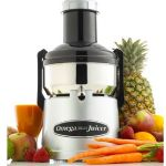 BMJ330 Commercial Pulp Ejector Juicer - Black and Silver