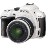 K-50 Digital SLR Camera with 18-55mm f/3.5-5.6 Lens (White)