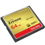 64GB Extreme Compact Flash Memory Card, - Transfer speed up to 120MB/s
