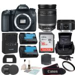 Canon EOS Rebel 70D DSLR Camera with EF-S 18-200mm f/3.5-5.6 IS Bundle