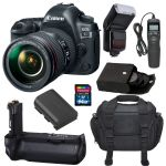 Canon EOS 5D Mark IV DSLR Camera with 24-105mm f/4L II Lens bundle