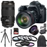 Canon EOS 6D Body W/ 24-105mm 70-300mm 128GB Kit