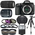 Canon EOS 7D Mark II Body W/ 18-55mm IS STM 75-300mm III 64GB Kit