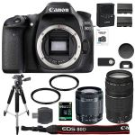 Canon EOS 80D Digital SLR Camera + 18-55mm STM + 75-300mm III Lens