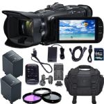 Canon VIXIA HF G40 Full HD Camcorder + 64GB SDXC, (2) BP-828 Batteries, Case, Car Charger, Polarizing Filter (CPL) Fluorescent Daylight Filter (FL-D) + Extras