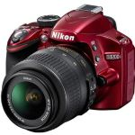 Nikon D3200 Digital SLR Camera with 18-55mm NIKKOR VR Lens - Red