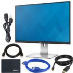 "Dell U2415 24"" Widescreen LED Backlit IPS Monitor + Display Port Cable + HDMI Cable + USB 3.0 Cable + AOM Microfiber Cleaning Cloth Monitor Bundle"