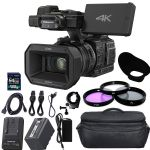Panasonic HC-X1000 4K DCI Ultra HD Full HD Camcorder with 64GB SDXC 5900 mAh Battery, Jumbo Case, Charger, Polarizing Filter (CPL) Fluorescent Daylight Filter (FL-D) + Extras
