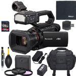 Panasonic HC-X2000 UHD 4K 3G-SDI/HDMI Pro Camcorder with 24x Zoom + AOM Starter Bundle (International Version)