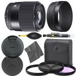 Sigma 30mm f/1.4 DC DN Contemporary Lens for Sony E (302965) + AOM Pro Starter Kit Bundle - International Version (1 Year AOM Warranty)