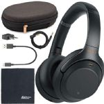 Sony WH-1000XM3 Wireless Noise-Canceling Over-Ear Headphones (Black) WH1000XM3/B + AOM Bundle - International Version (1 Year AOM Warranty)